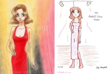 Draw it again 2005 vs 2017 by susu-chan