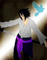 :Blue Bird:  Sasuke Uchiha by LuziWonka