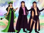 Neo Queen Jenny and her sons Prince Terra and Prin by Bluediamondpikachu83