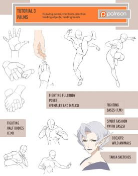 February tutorials (Fighting/palms) by Precia-T