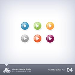 Pixel Play Button Pack 04 by sizer92