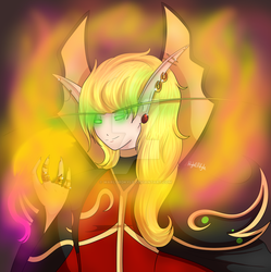 blood elf Gregory by DarkShadowWolf