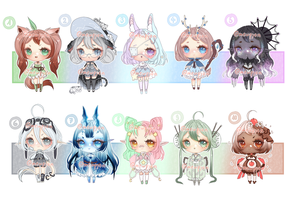 ADOPTS: 100 Adopt challenge 1-10 [1/10 OPEN] by Mewpyonadopts