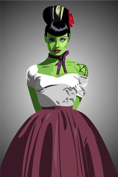 Miss Green Thang by atomicfairy