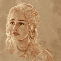 Daily Sketch 25: Daenerys Targaryen by artandwine365