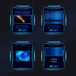 sci-fi interface concept by rzl-gfx