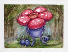Vileplume and Oddish