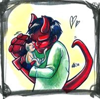 Hellboy: First Kitten by ClockworkMurderscene