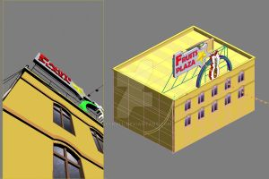 3D of Fruits Plaza by ReSkull