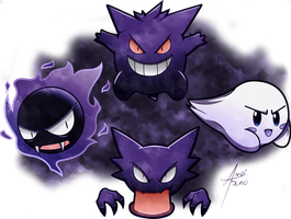 The Ghost Gang! by amaitsuno