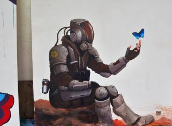 Rust and Hope - Traditional painting by FonteArt