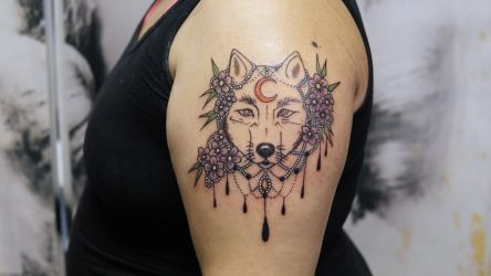 Wolf tattoo by sHavYpus