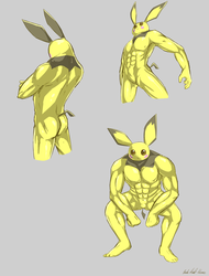 Muscle Pichu by Alomaire