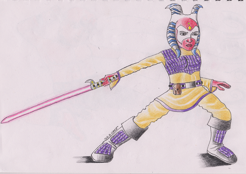 The Togruta Jedi by CrystalSabre