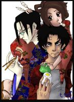 Champloo Cast get food colored by madhatter-asylum