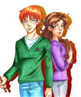 Ron and Hermione by Luisamd