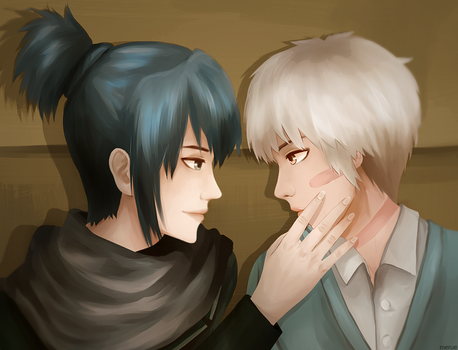 Nezumi and Shion by merue