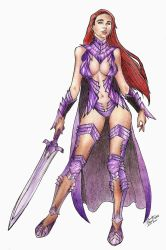 Purple Warrior by Lovely-Bacar