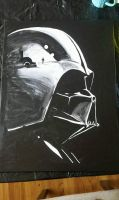 Vader' new acrylic original commission IN PROGRESS by TheJennaBrown