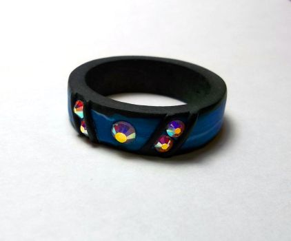 Polymer Clay Ring by CraftMuse