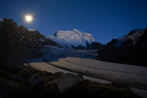 Grand Combin at Moonlight by RobertoBertero