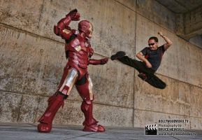 Bruce vs Iron Man by RaptorArts