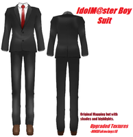 IdolMaster Boy Suit- Upgrade Textures by MMDFakewings18
