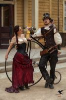 Steampunk Penny-Farthing or Large Wheel Bike by PhotosbyRaVen