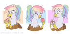 Rainbow Feather Foods by Apricalico by Q99