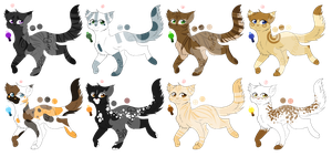 Cat Adoptable batch 1 (1/8 OPEN) by SparrowDraws