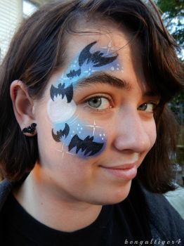 Batty Face Paint by BengalTiger4