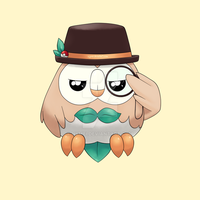 Pokemon - Rowlet by nymei