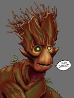 Groot Portrait  by moviedragon009v2