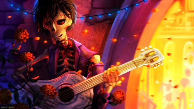 Last Song before a Final Death (COCO Fanart) by Neytirix