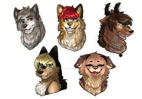 Bunch of YCHs by ScarletHatter