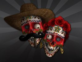 Sugar Skulls Fiesta Time by satansbrand