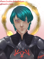 FE: Three Houses - Byleth [SpeedPaint] by Loustica
