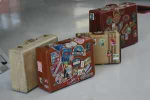 Vintage Luggage by FoxStox