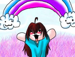 Rainbows and Purple Grass! by SafireCreations