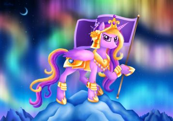 Princess Cadance - Warrior of the Northern Lights by Rose-Beuty