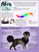 Afro Cats Species Overview by ChocolateQuill