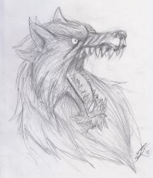 Old school metal fest sketches - woof by roadkillblues