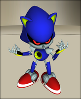 Classic Metal Sonic .Pose-Copy. by CGI-Candy
