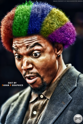 Andew Bynum CRAZY Hair! by PavanPGraphics
