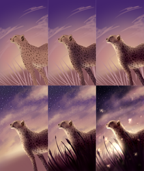 Cheetah [Drawing Process] by LiussSteen