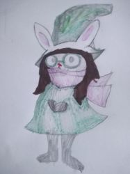 Me in a ralsei outfit by VALESUPERMERGE