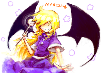 Marisa in Dim.Dream by OryzaOryza