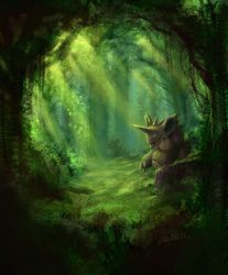 Nidoking's Grove by SteveSketches