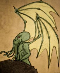 Cthulhu Fhtagn by kaolincash