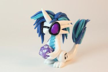MLP Vinyl Scratch Inspired Dragon by ShaidySkyDesign
